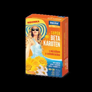Revital PREMIUM SUPER BETA-KAROTÉN s nechtíkom a sedmokráskou 40+20 tabliet zdarma