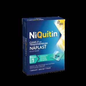 NiQuitin Clear 21 mg transdermálna náplast, 7 ks