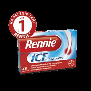 Rennie® ICE bez cukru 48 žuvacích tabliet