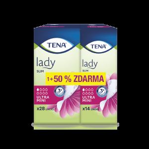 TENA Lady SLIM ULTRA MINI absorpčné vložky, 28 ks + 14 ks ZADARMO