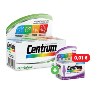 Centrum od A až po Železo 100 tabliet + Centrum ženy 30 tabliet za 0,01€