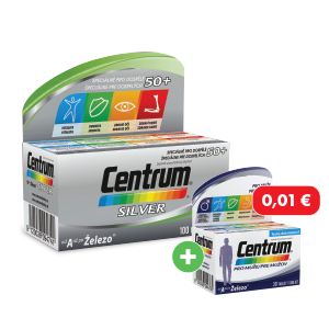 Centrum Silver 100 tabliet + Centrum muži 30 tabliet za 0,01€