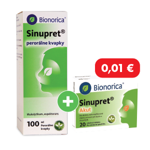 Sinupret kvapky 100 ml + Sinupret Akut 20 tabliet za 0,01€