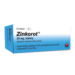 Zinkorot® 25 mg 50 tabliet
