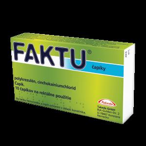 FAKTU čapíky 100 mg/2,5 mg 10 ks