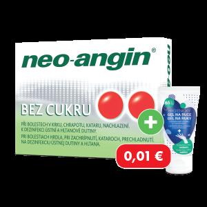 Neo-angin® bez cukru 24 pastiliek + hygienický gél za 0,01€