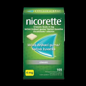 Nicorette® Classic Gum 4 mg 105 liečivých žuvaciek