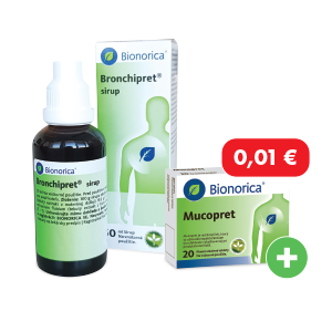 Bronchipret sirup 50ml + Mucopret za 0,01€