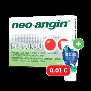 Neo-angin® bez cukru* 24 pastiliek + hygienický gél za 0,01€