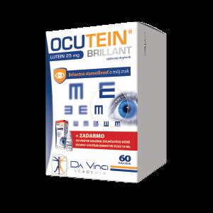 OCUTEIN BRILLANT Luteín 25 mg - DA VINCI 60 kapsúl + očné kvapky OCUTEIN Sensitive 15 ml zadarmo