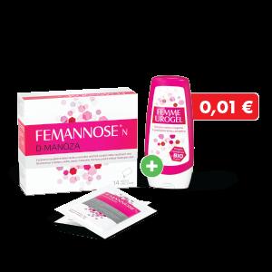 FEMANNOSE® N D-manóza 14 vrecúšok + Femme Urogel za 0,01€