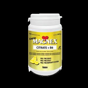 MAGNEX CITRATE + B6 CHEW žuvacie tablety, 100 ks
