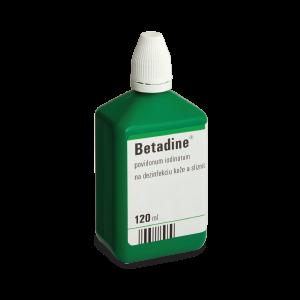 Betadine* dezinfekčný roztok, 120 ml