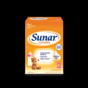 Sunar® Complex 2, 3, 4 a 5 s mliečnym tukom, bez palmového oleja, 600 g