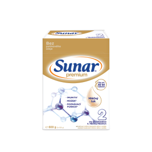Sunar® Premium 2, 3 a 4 s mliečnym tukom, bez palmového oleja, 600 g