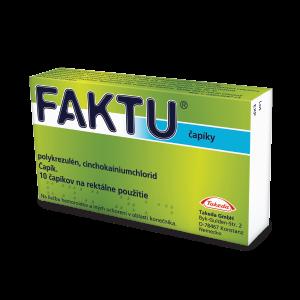 FAKTU* čapíky 100 mg/2,5 mg, 10 ks