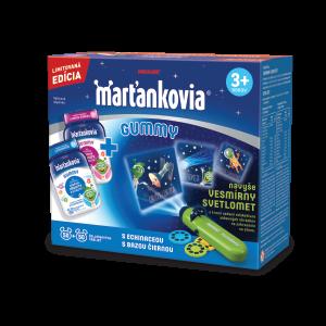Marťankovia GUMMY želatínové tablety s echinaceou 50 ks + s bazou čiernou 50 ks + darček svetlomet