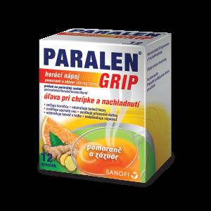 PARALEN® GRIP* horúci nápoj pomaranč a zázvor 500 mg/10 mg, 12 vreciek