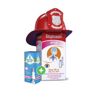 Stoptussin* sirup, 180ml + NASAL DUO ACTIVE* 0,5/50 mg/ml, 10ml