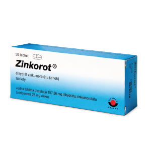 Zinkorot®* 25 mg 50 tabliet