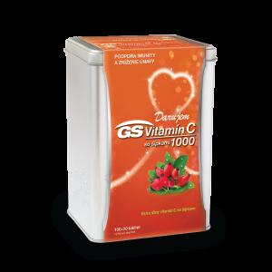 GS Vitamín C 1000 so šípkami 100 + 20 tabliet + DARČEK strieborná dóza
