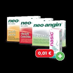 Neo-angin* 24 pastiliek + Nasic* nosový sprej za 0,01€