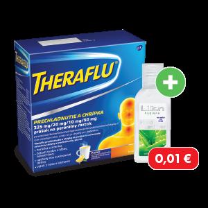 THERAFLU* PRECHLADNUTIE A CHRÍPKA, 14 vrecúšok + čistiaci gél na ruky za 0,01€