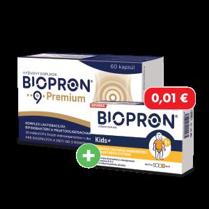 Biopron 9 Premium 60 tabliet + Biopron Kids 30 tabliet za 0,01€