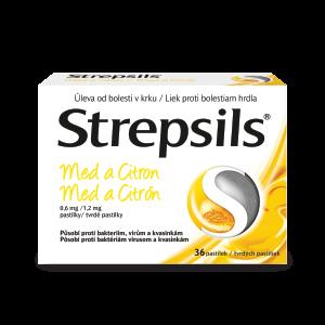 Strepsils* Med a Citrón, 36 pastiliek