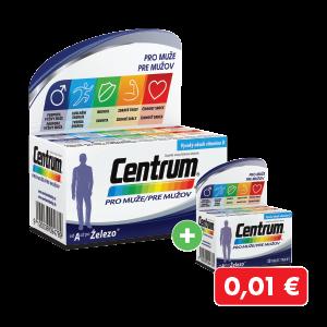 Centrum pre mužov 60 ks + 30 ks za 0,01€