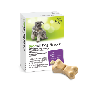 Drontal Dog Flavour 150/144/50 mg, 2 tablety