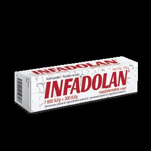 INFADOLAN®, 1 600 IU/g + 300 IU/g dermálna masť, 100g
