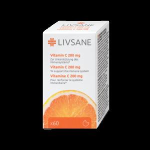LIVSANE Vitamín C 200 mg 60 tabliet