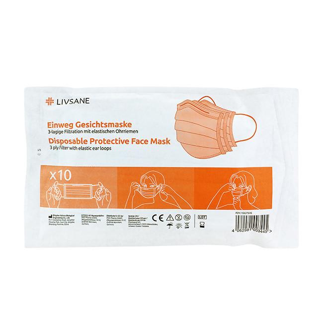 LIVSANE Ochranná maska na jedno použitie 1x10 ks