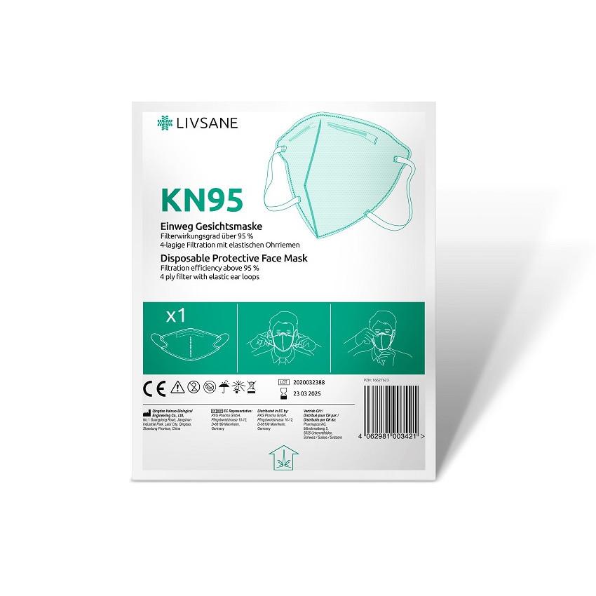 LIVSANE Ochranný respirátor KN95 ochranná tvárová maska 1x1 ks