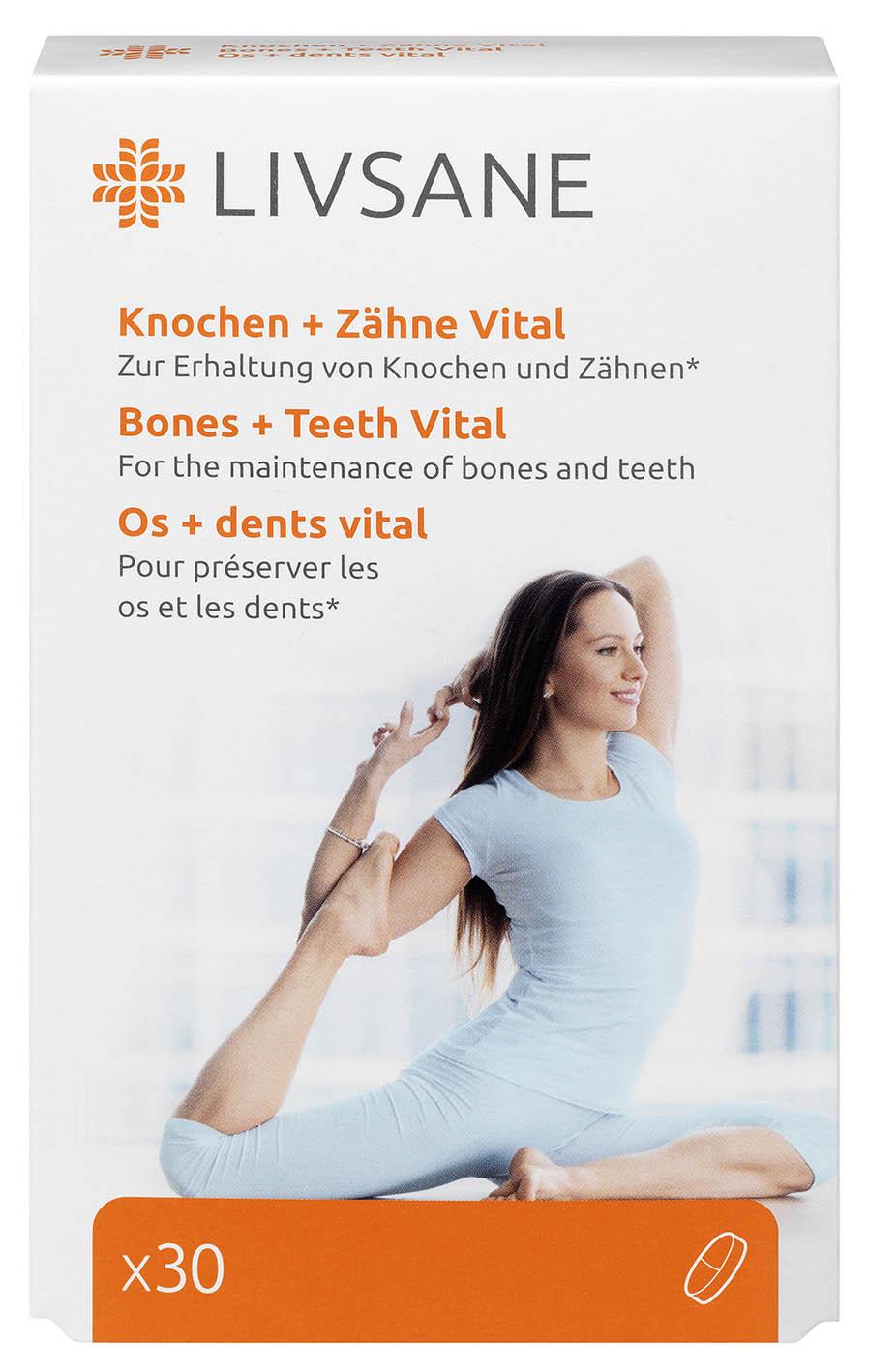 LIVSANE Podpora pre zdravé kosti a zuby tbl 1x30 ks