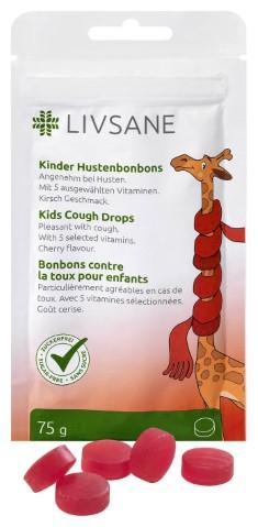 LIVSANE Detské mentolové pastilky s vitamínmi, príchuť čerešne 1x75 g