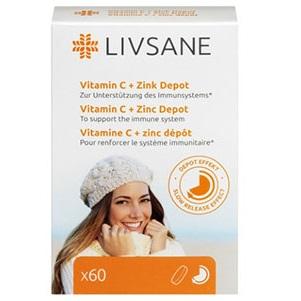LIVSANE Vitamín C + Zinok tbl (s postupným uvoľňovaním) 1x60 ks