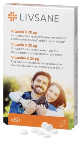 LIVSANE Vitamín D, tbl 1x60 ks