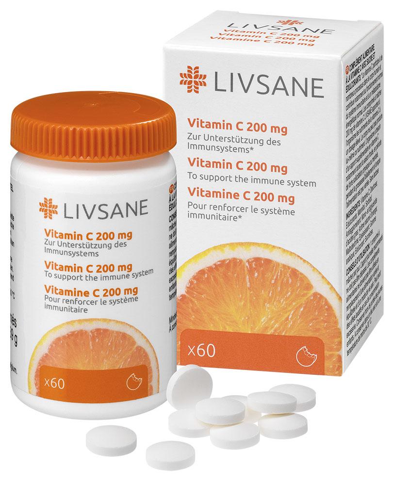 LIVSANE Vitamín C 200 mg tbl 1x60 ks