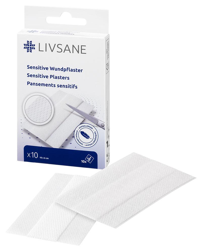LIVSANE Náplasť na citlivú pokožku 10x6 cm, sensitive, 1x10 ks