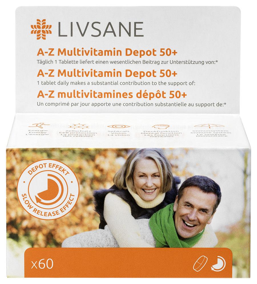 LIVSANE A-Z Multivitamín komplex 50+ tbl 1x60 ks