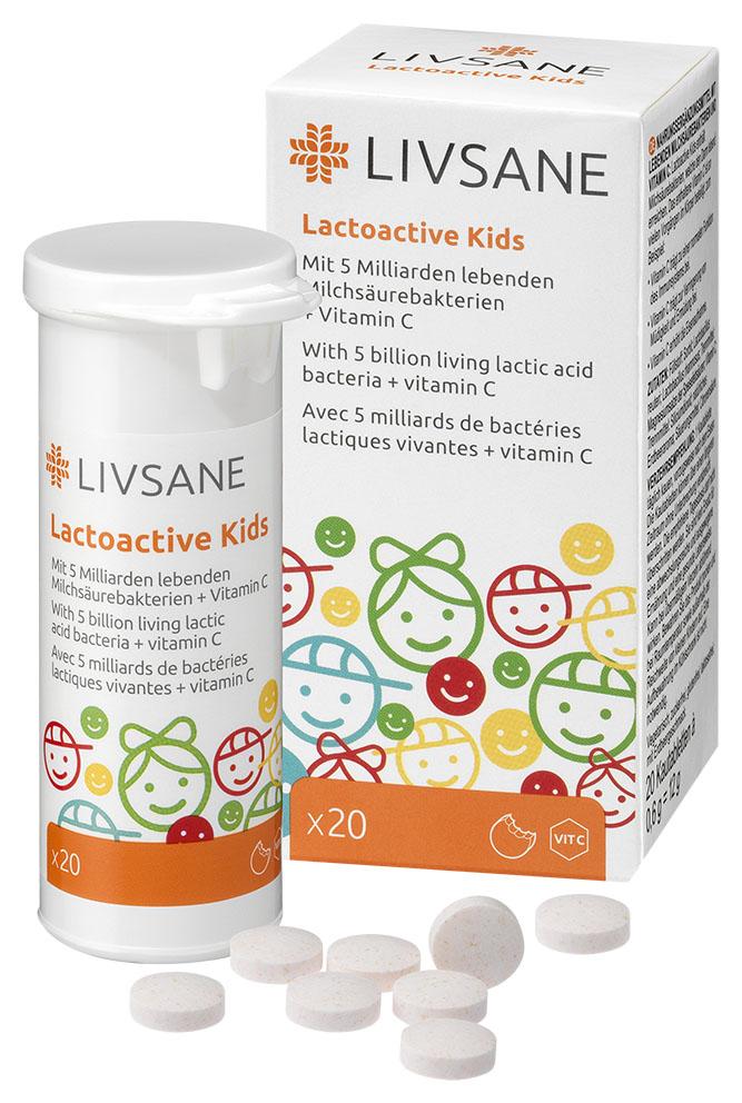 LIVSANE Laktoaktívne tablety pre deti tbl 1x20 ks
