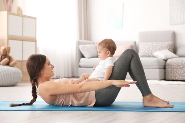 Jesenné cvičenie pre matky po pôrode